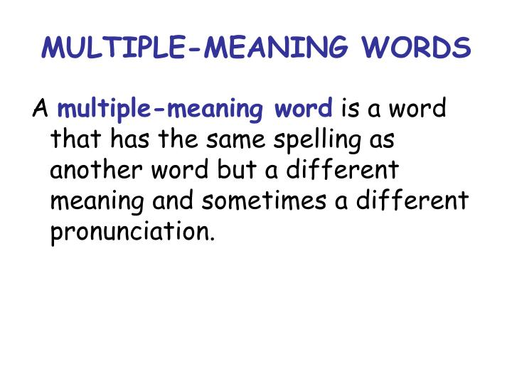 multiplicity of meaning in the last