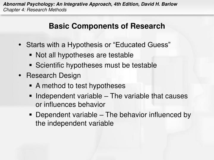 Basic components of research