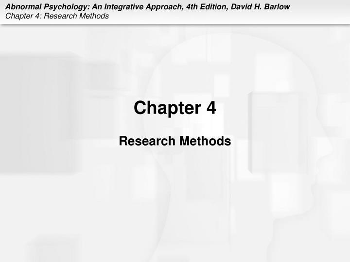 Chapter 4 research methods