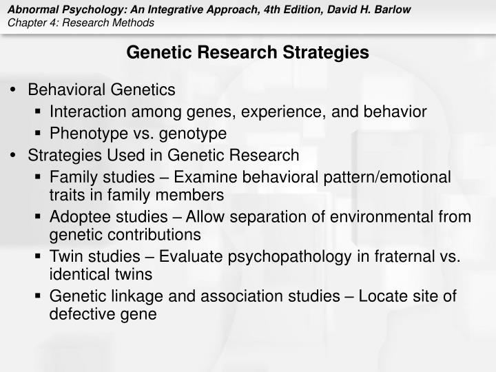 Genetic Research Strategies
