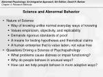 science and abnormal behavior