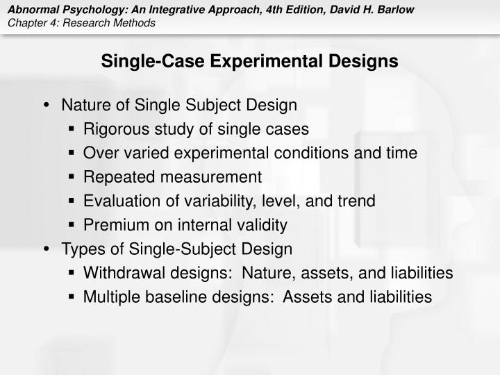 Single-Case Experimental Designs