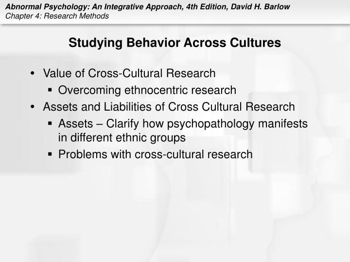 Studying Behavior Across Cultures