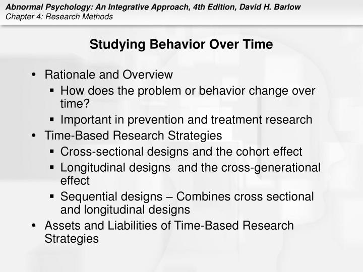 Studying Behavior Over Time