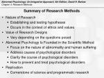 summary of research methods