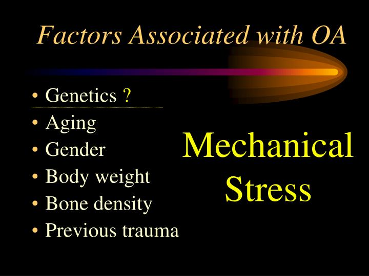 Factors Associated with OA