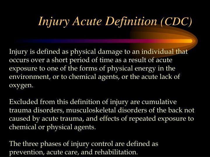 Injury Acute Definition