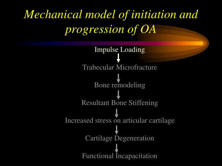Mechanical model of initiation and progression of OA