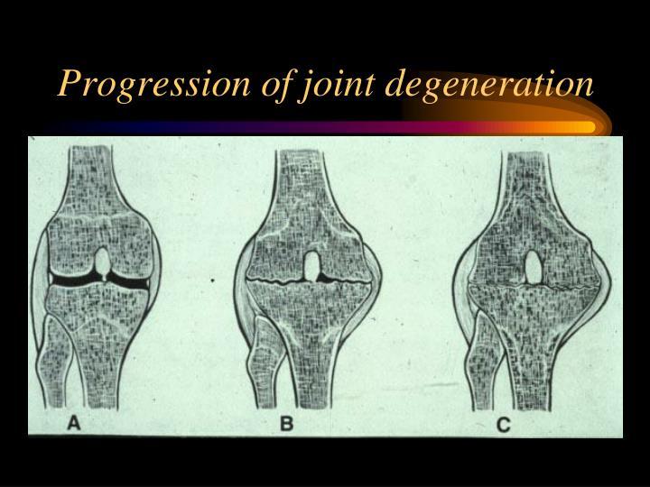 Progression of joint degeneration