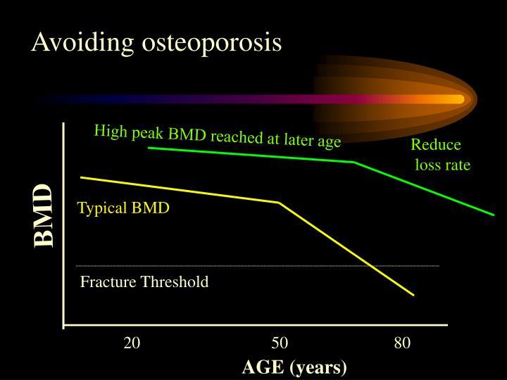 Avoiding osteoporosis
