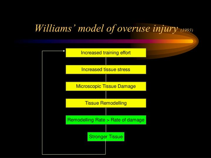 Williams' model of overuse injury