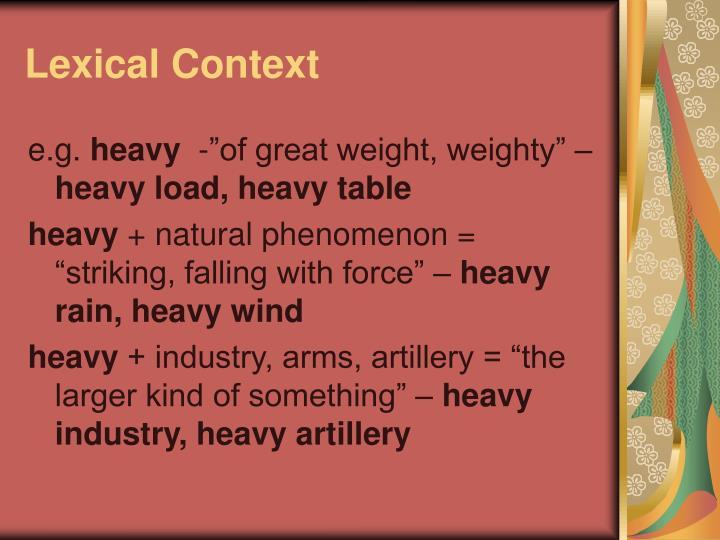 Lexical Context