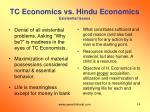 tc economics vs hindu economics existential issues