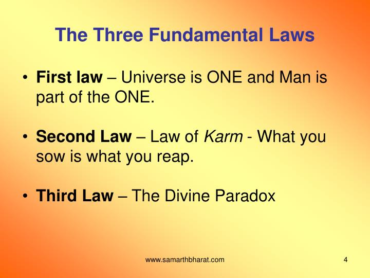 The Three Fundamental Laws