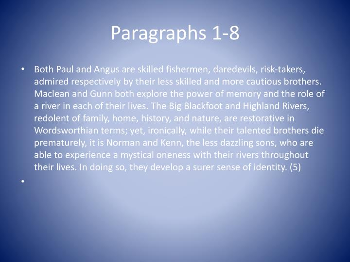 Paragraphs 1-8