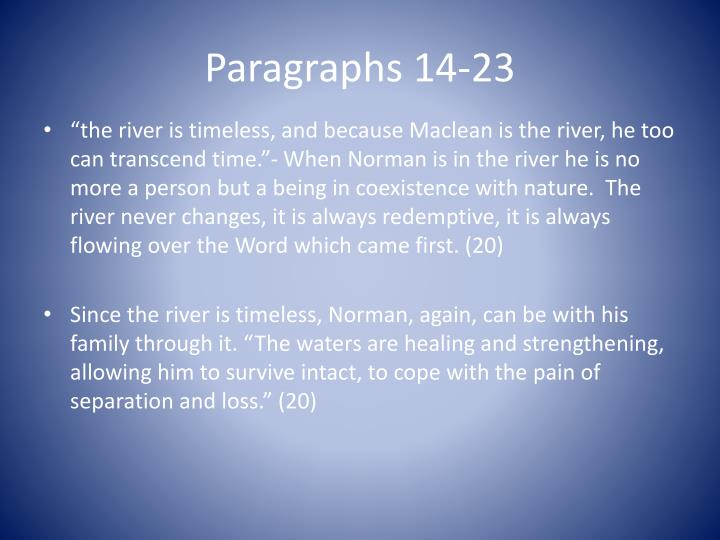 Paragraphs 14-23