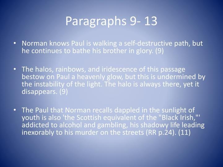 Paragraphs 9- 13