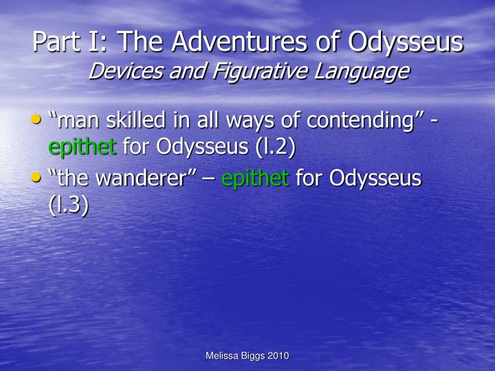 Part i the adventures of odysseus devices and figurative language