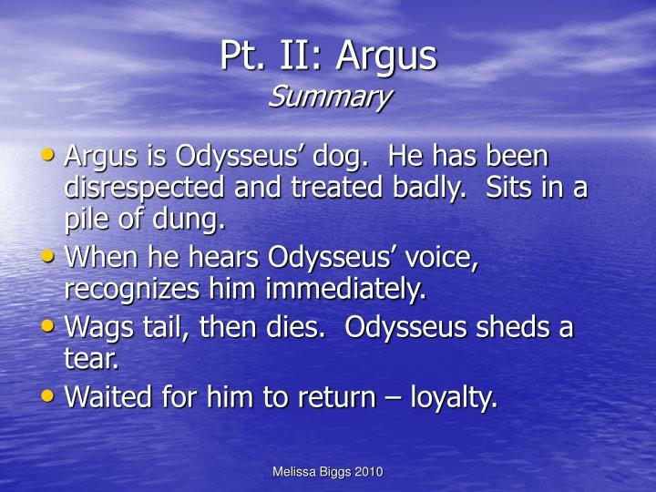 Pt. II: Argus