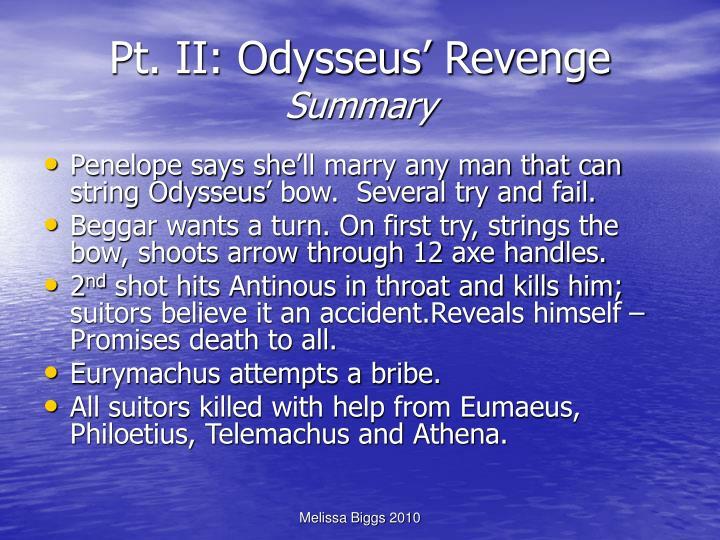 Pt. II: Odysseus' Revenge