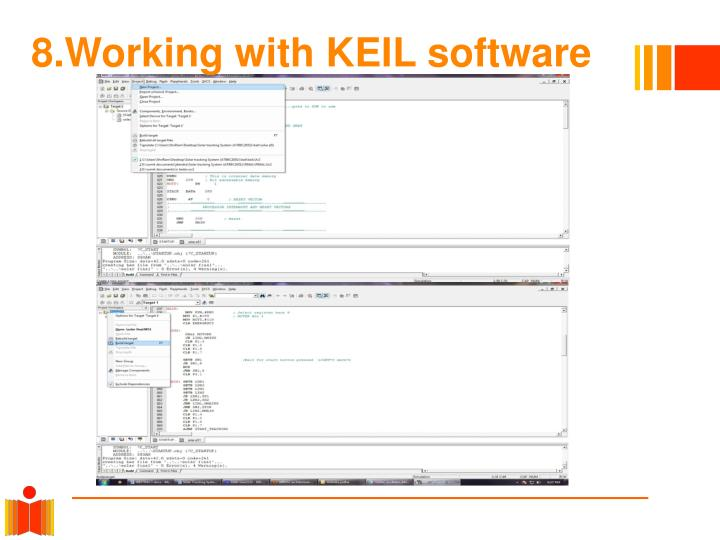 8.Working with KEIL software