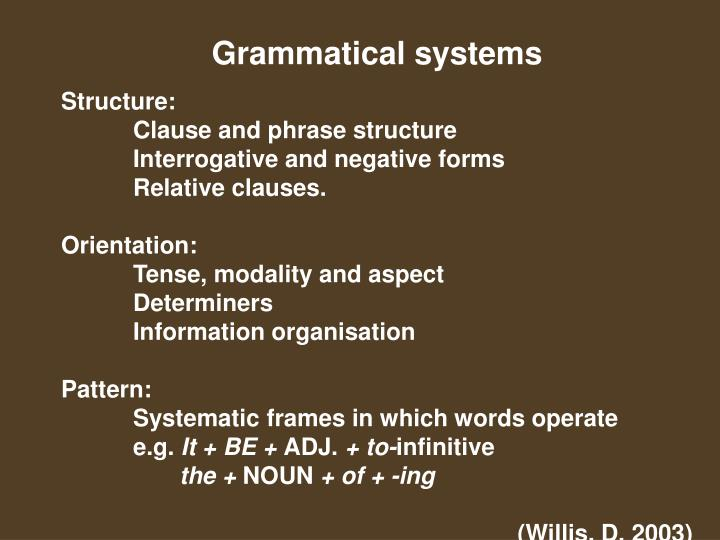 Grammatical systems