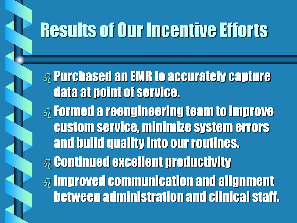 Results of Our Incentive Efforts