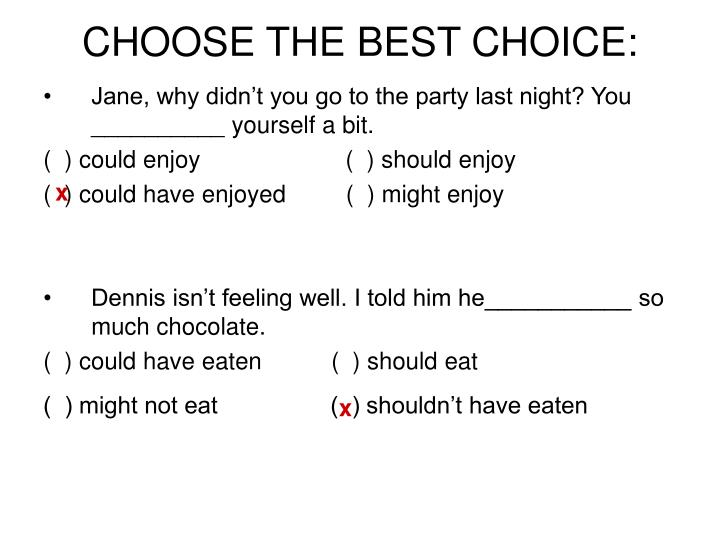 CHOOSE THE BEST CHOICE: