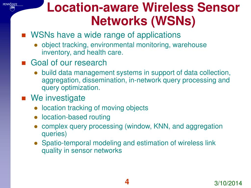 Location-aware Wireless Sensor Networks (WSNs)