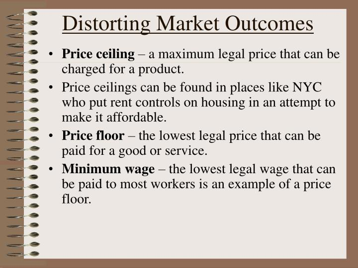 Distorting Market Outcomes