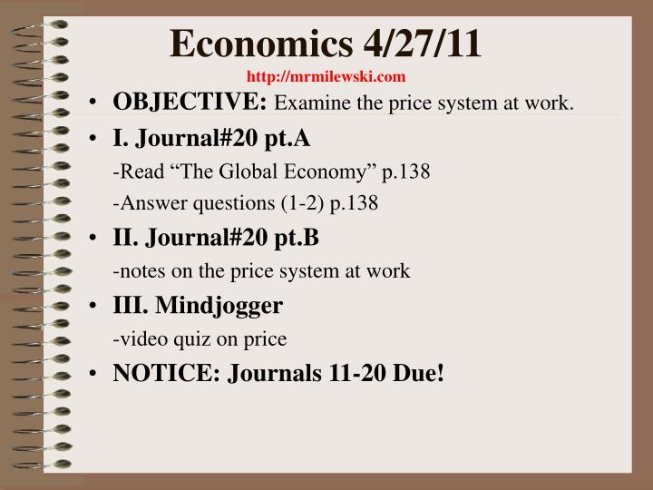 Economics 4/27/11