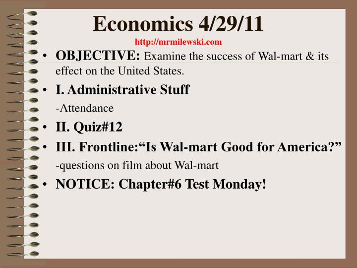 Economics 4/29/11