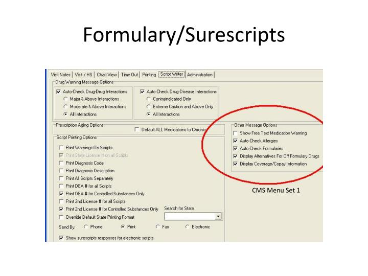 Formulary/