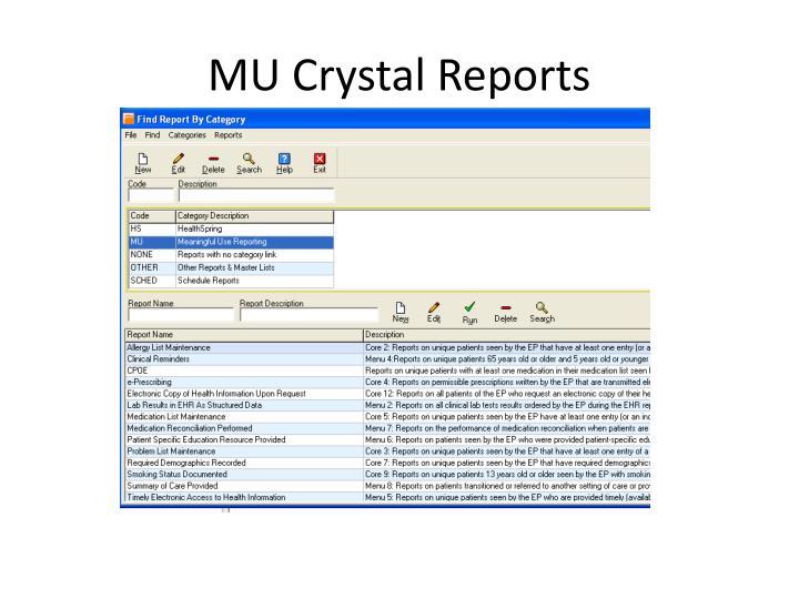 MU Crystal Reports