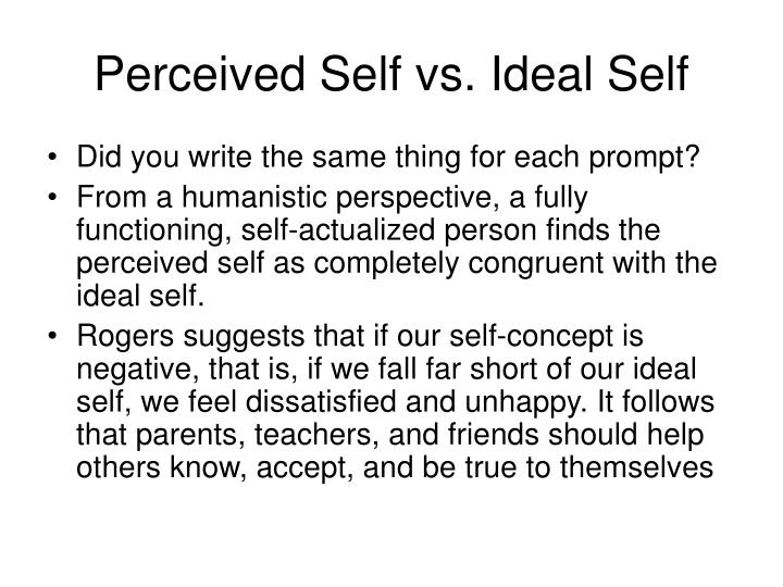 Perceived Self vs. Ideal Self