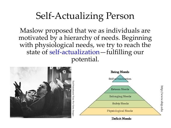 Self actualizing person