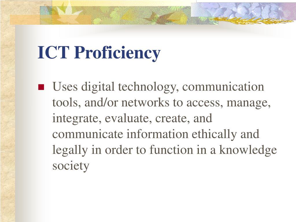 ICT Proficiency