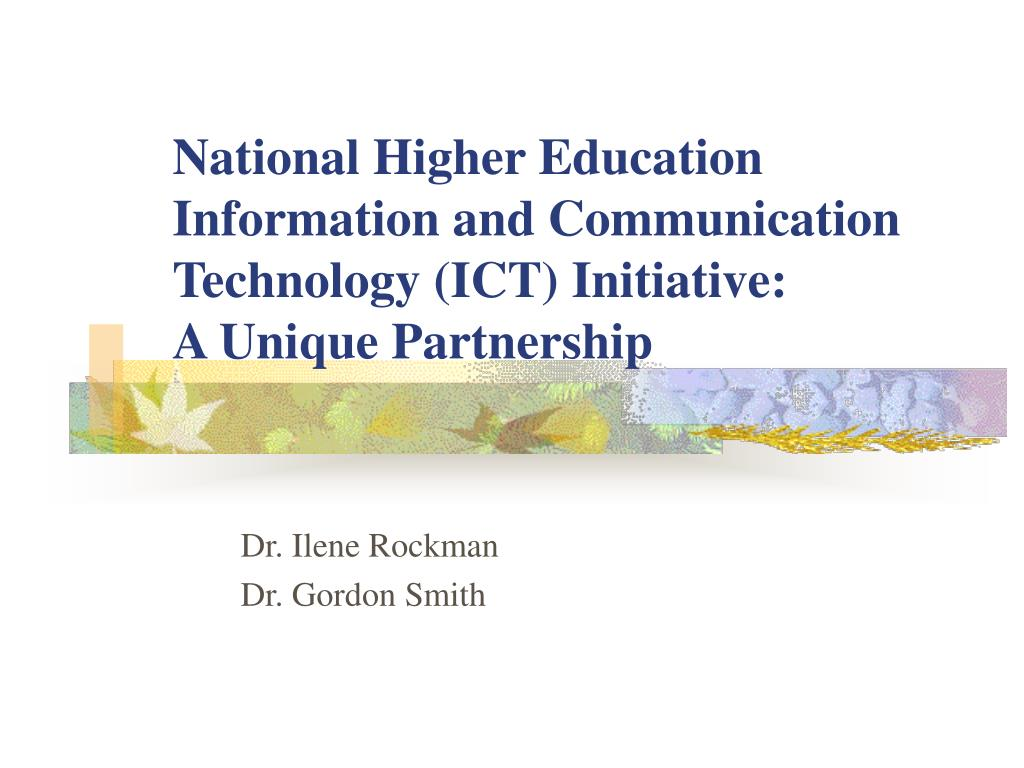 National Higher Education Information and Communication Technology (ICT) Initiative: