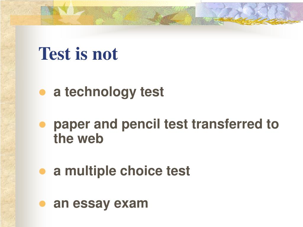 Test is not