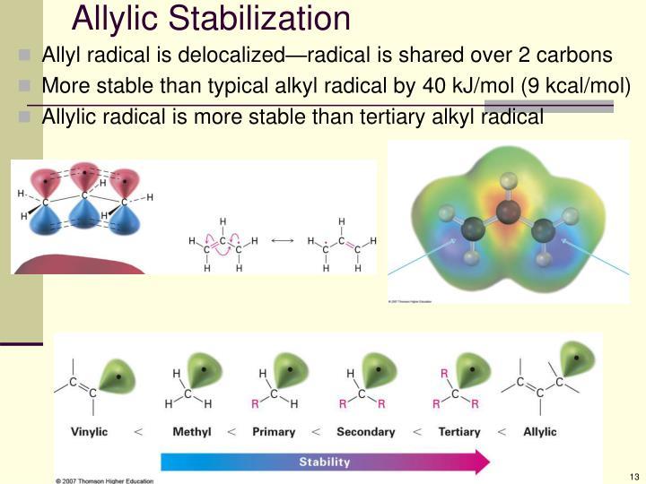 Allylic Stabilization