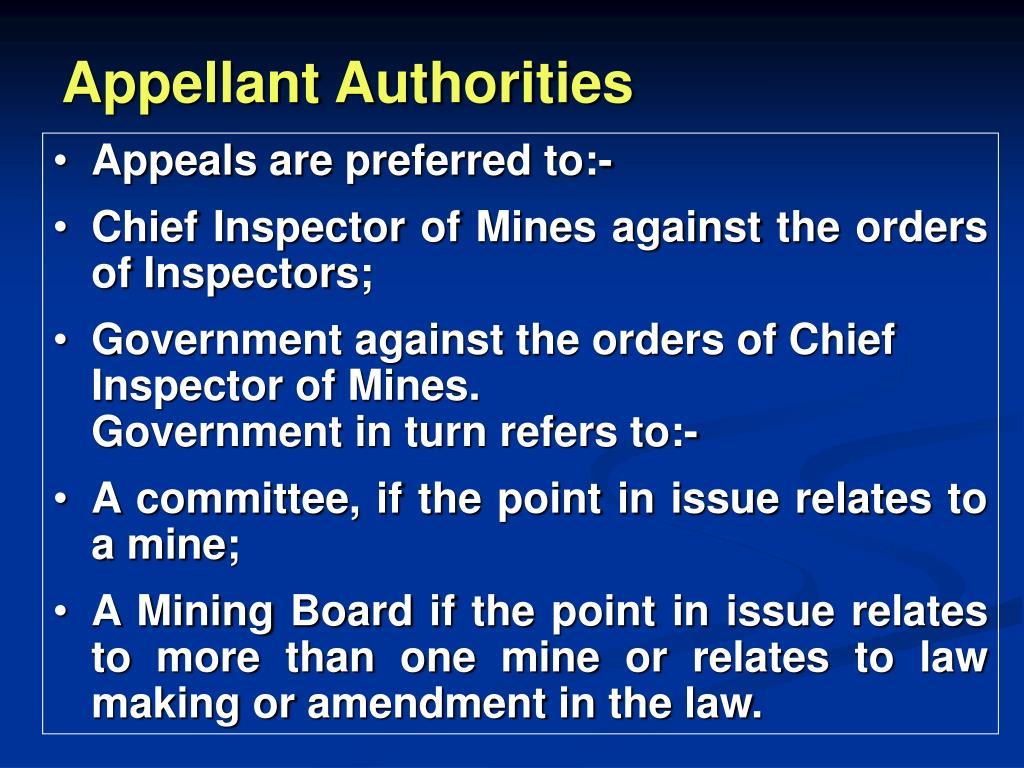 Appellant Authorities