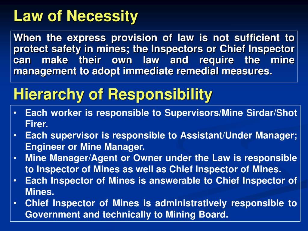 Law of Necessity