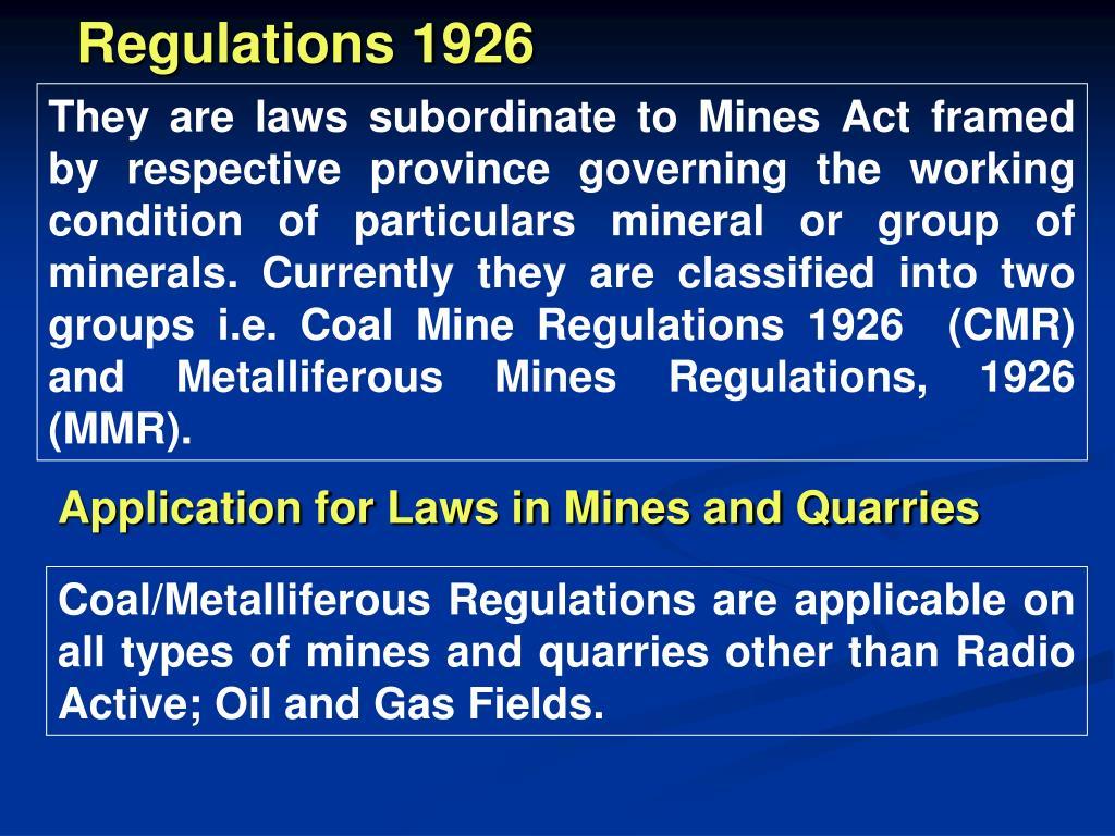 Regulations 1926