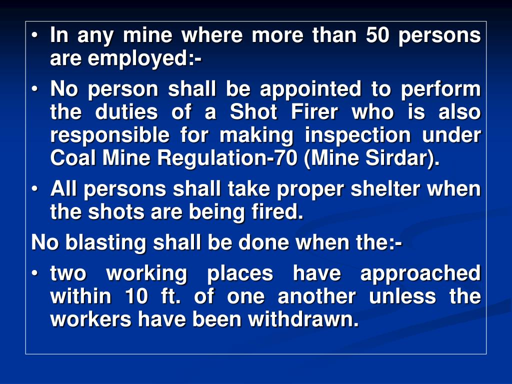 In any mine where more than 50 persons are employed:-