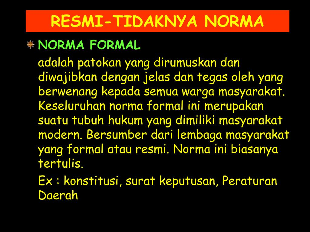 NORMA FORMAL