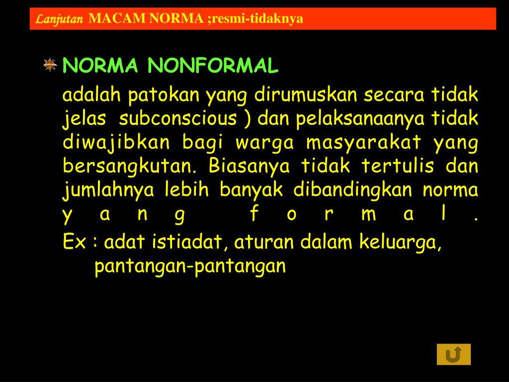 NORMA NONFORMAL
