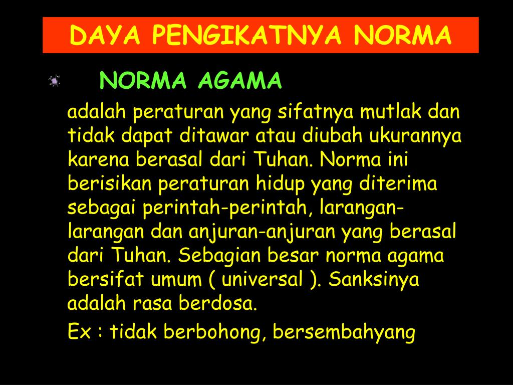 NORMA AGAMA