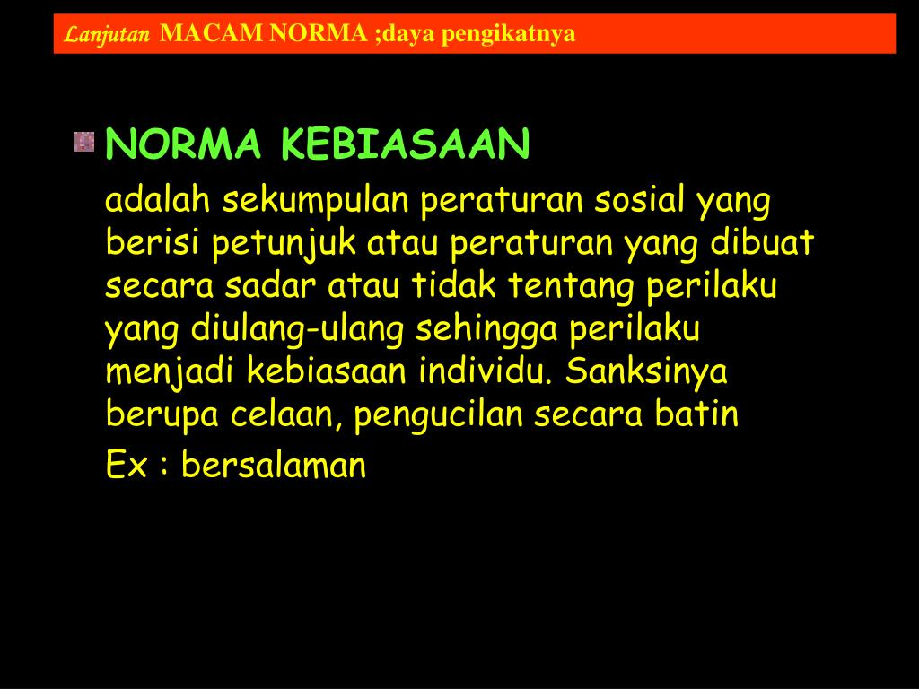 NORMA KEBIASAAN