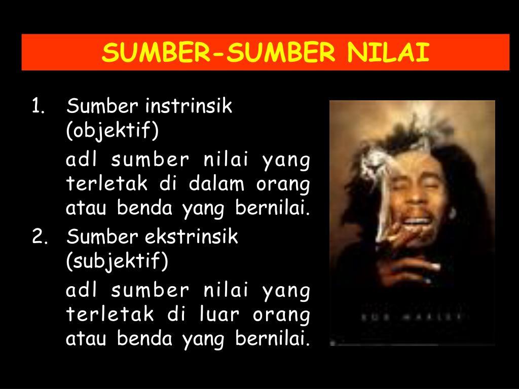 SUMBER-SUMBER NILAI