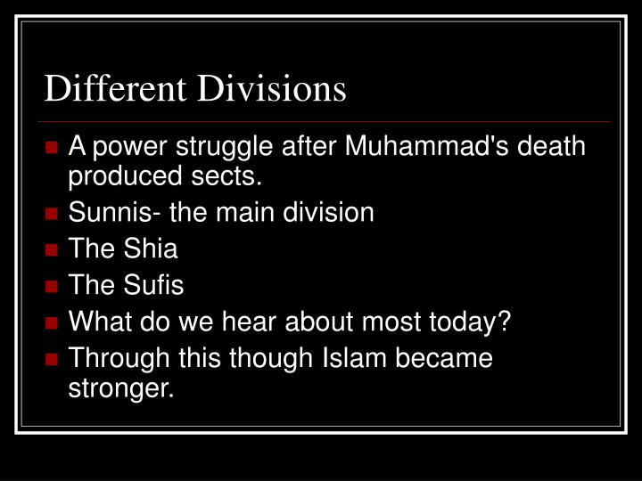 Different Divisions